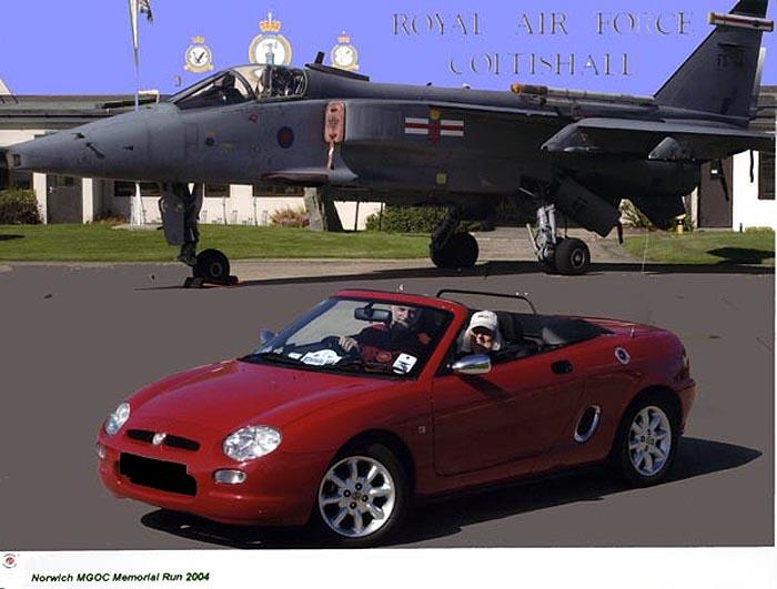 My MGF at RAF Coltishall on the Norwich MGOC Memorial Run 2004