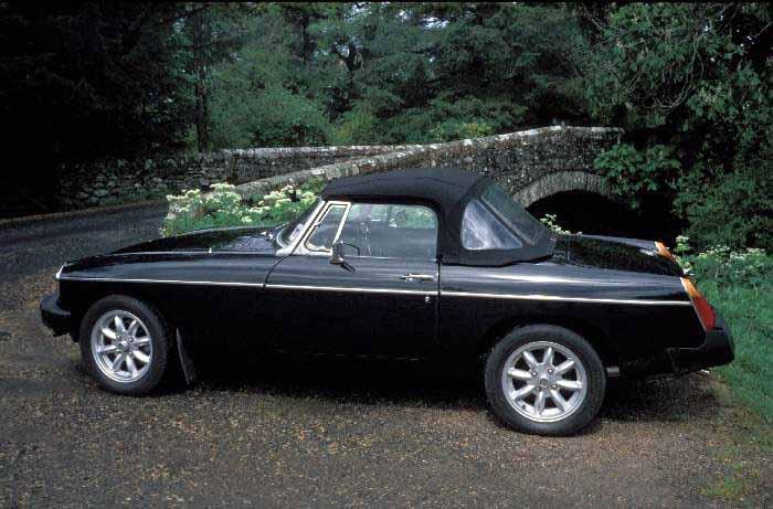 MGB at Dockray Bridge in the Lake District.