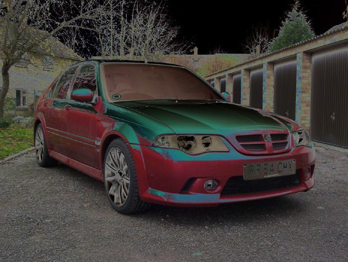 They didn't advertise this paintwork option in the MG Rover catalogue!