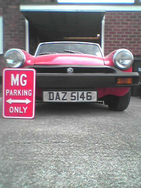 MG MIDGET PARKING ONLY
