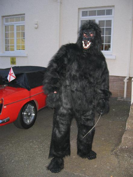 Mr R Hubbard - Who by his own admission tried to get out of paying for the coach by disguising himself as a silly monkey