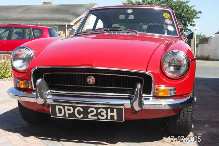 My 1969 MGB GT in flame red.