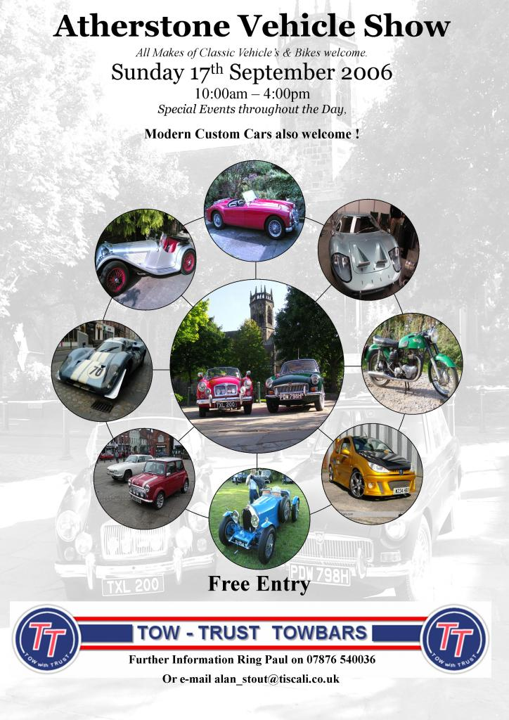 This is the New poster for the World Famous classic car show