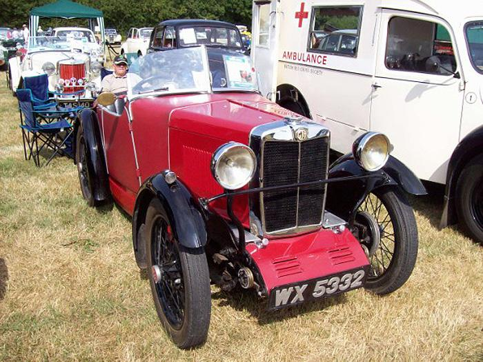 Lovely little M Type Midget seen at Wings and Things at Woodchurch, Kent on August 6 2006