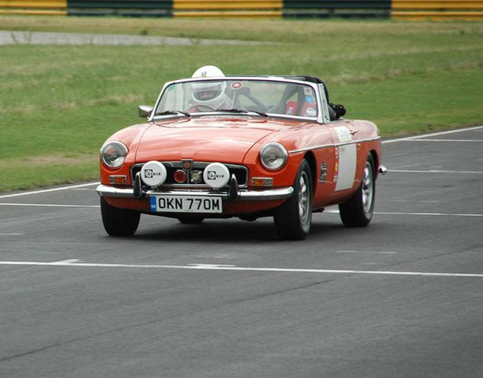 On the pit straight at Croft on the MGs On Track day in August 2006.
