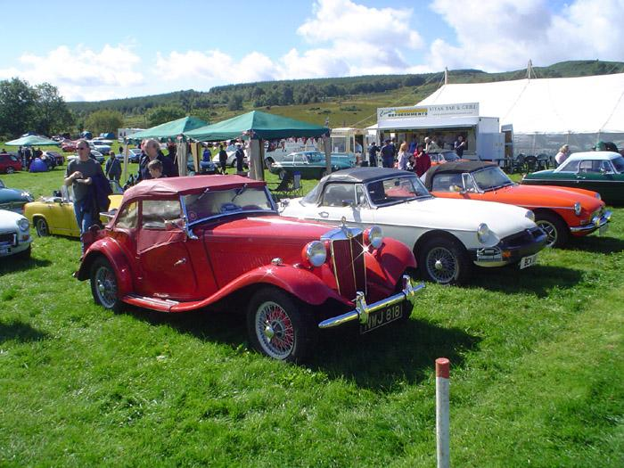 See it does shine on the MG stand in Scotland!