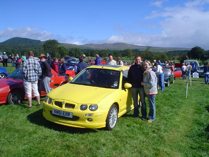 Northant's Members geting ready to do battle with Lotus and X19's in the Callander challenge.