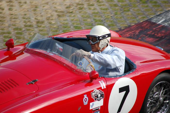 RAC Woodcote Trophy - Sir Stirling Moss at the wheel of OSCA MT4