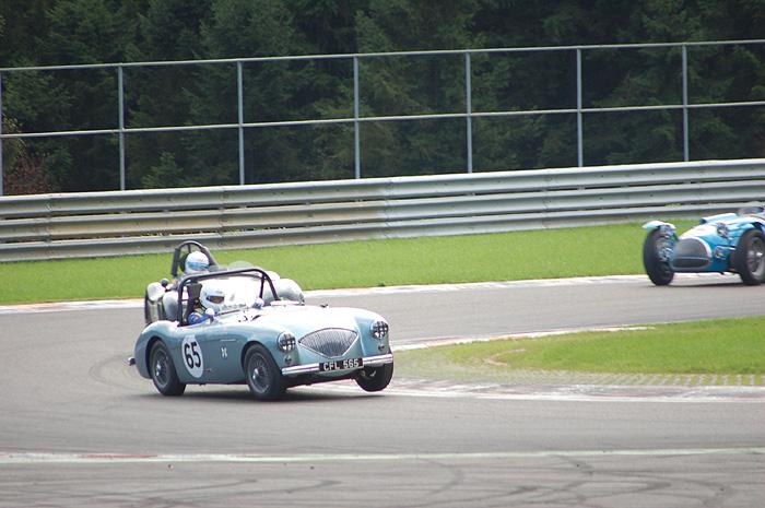 RAC Woodcote Trophy - A very enthusiastic driver (Barry Sidery-Smith's co driver !)in Austin Healey