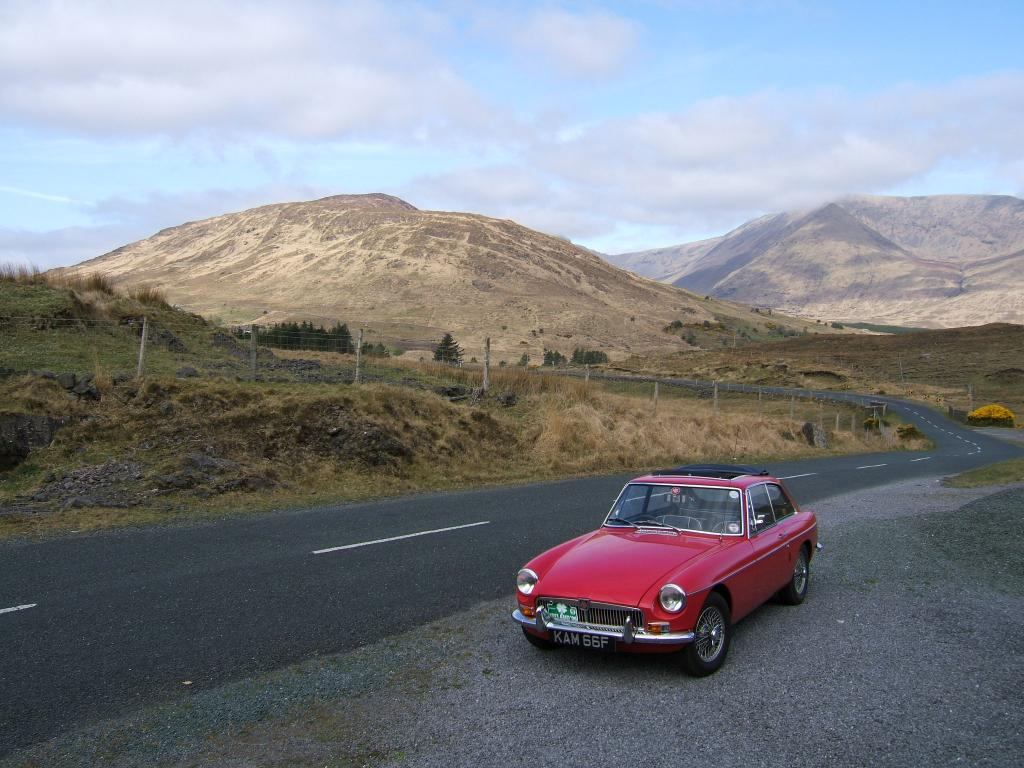 MGOC Ireland tour - in the mountains of Co Mayo