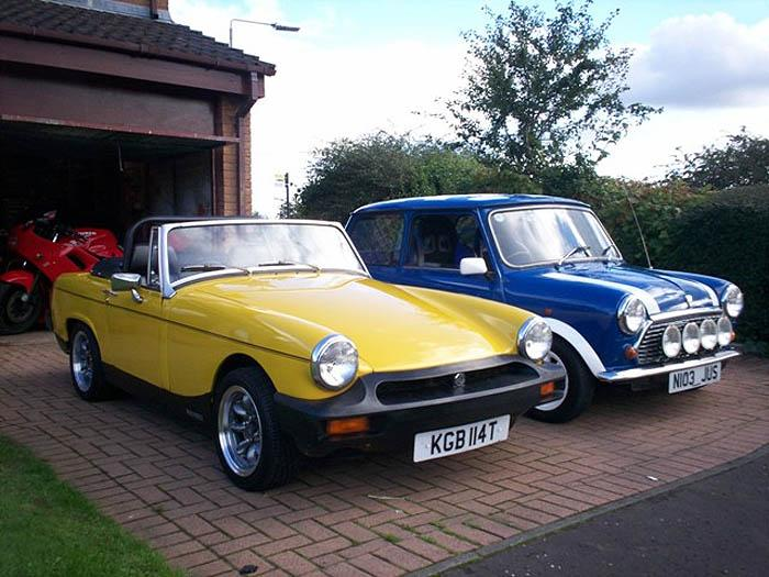 My midget and my brother's mini on the rare occassion they are both clean