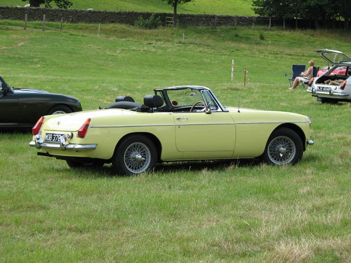 My newly renovated 1970 MGB roadster in primrose yellow.