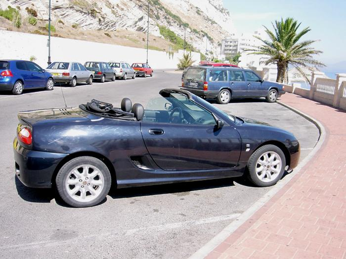 2003 MG TF 115,in Gibraltar where I now live.