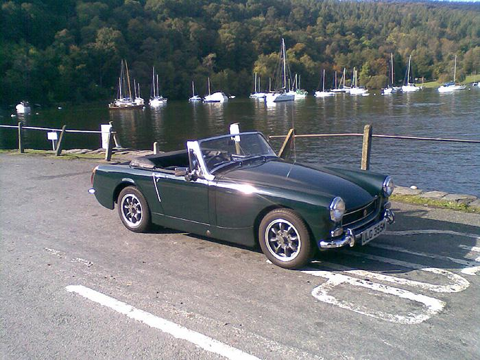 Waiting to cross the Lake at Hawkshead Ferry