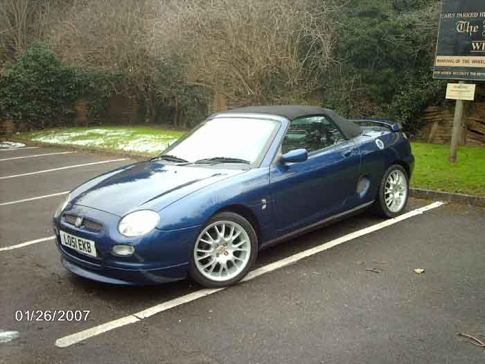 Been waiting 12 years since selling my Midget to get another MG. VVC Freestyle.Jan 07.