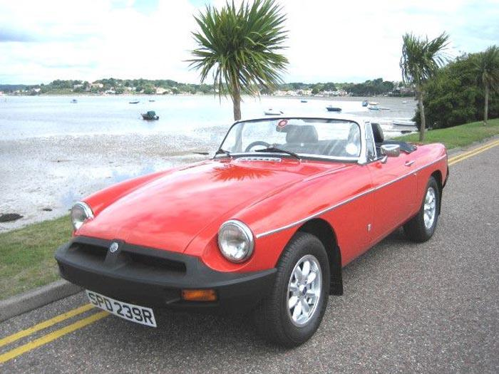 My red roadster at Poole Harbour summer 07