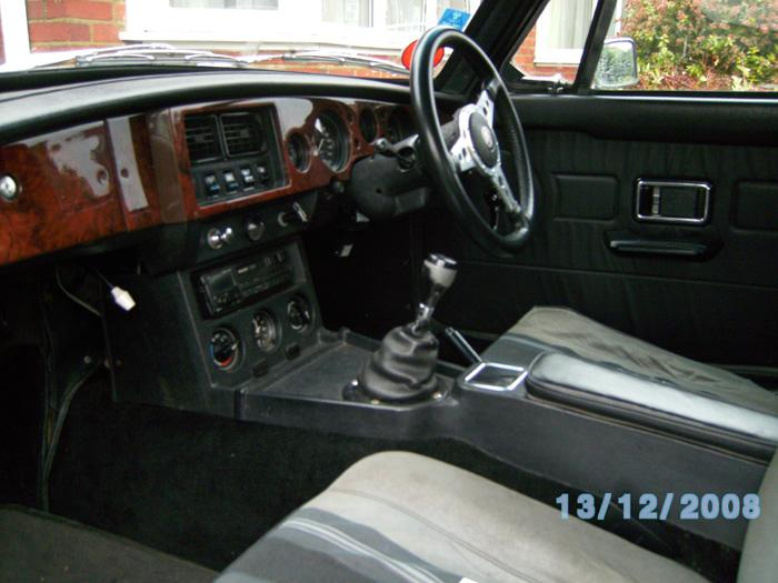 Interior view of our 1976 MGB GT.