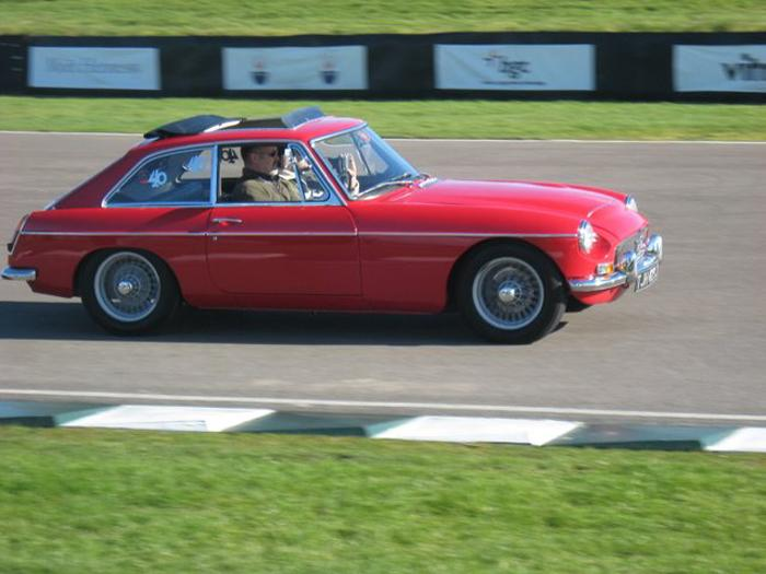 On the parade lap at Goodwood on the 14th Feb 2009. It was Valentine's 40th Birthday. Thanks to Peter T for the picture.