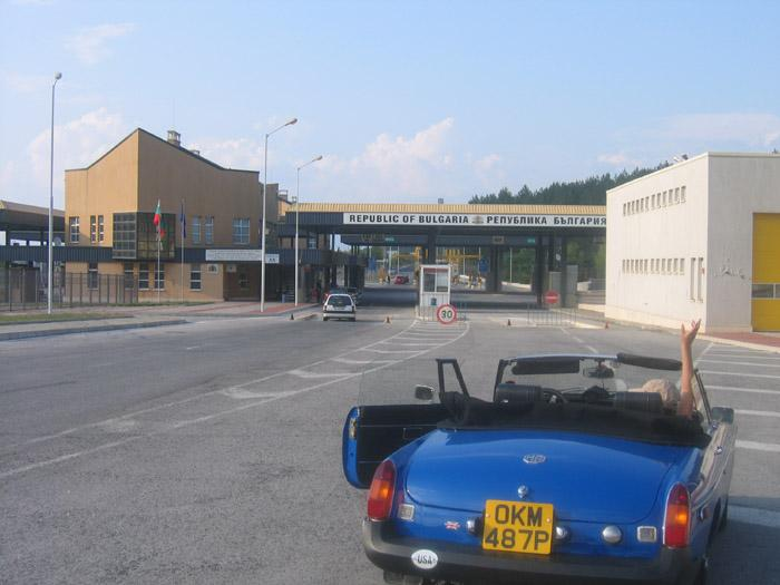 Entering Bulgaria after travelling across Europe from Southhampton without problems