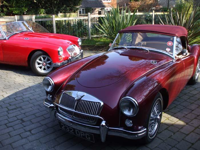 A brace of MGA in sunny Bournemouth 1020 land