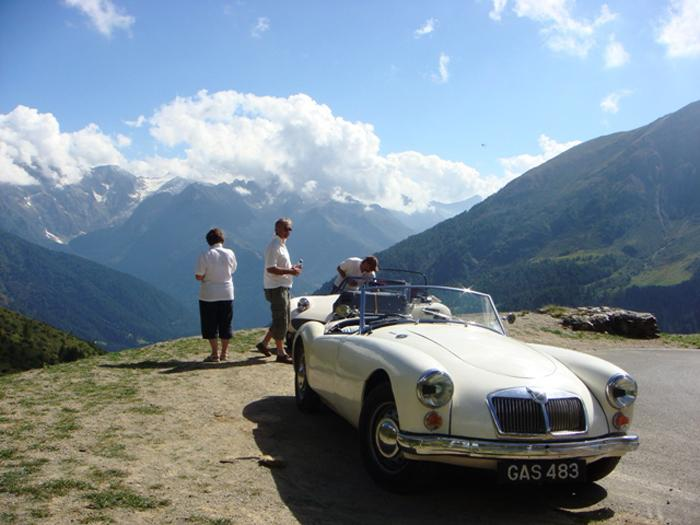 Brief stop to catch our breath.  The most spectacular journey in Italy.  A must-do for any MG driver!