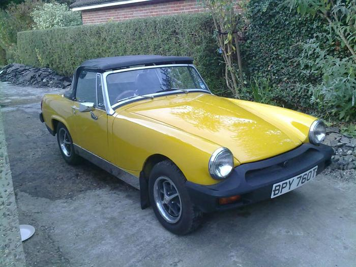 I'm 15 years old and this is my 1979 MG midget (1500)