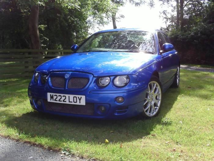 A recently acquired Trophy Blue MG ZT CDTi+
