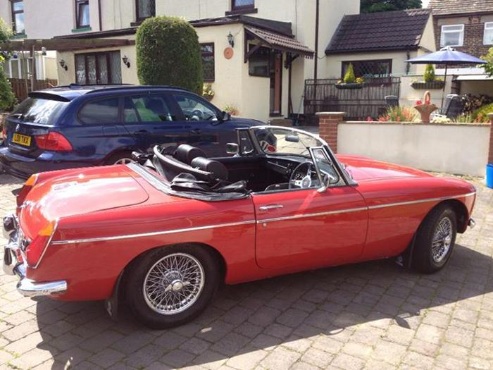 1967 MGB Roadster had only been drivem 4 miles each year for last for years!