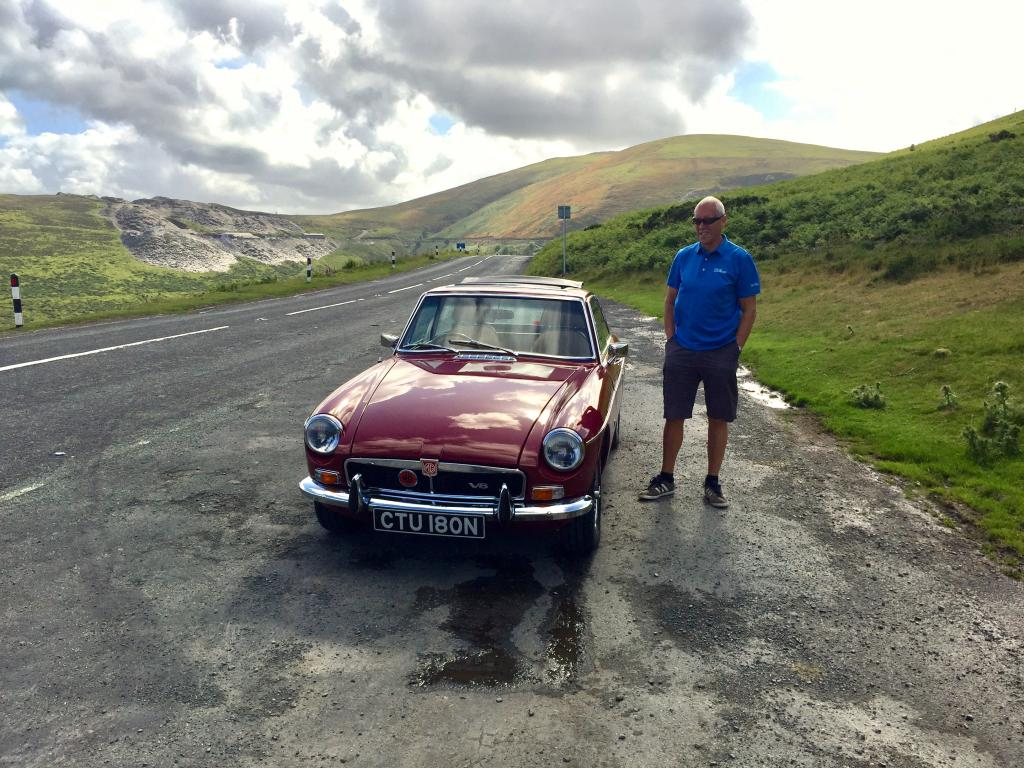 My V8 on run out in Wales
