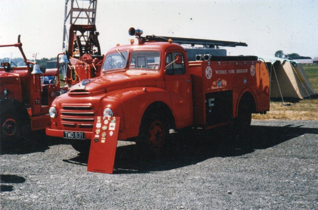 MG WORKS FIRE ENGINE AT FIRE ENGINE RALLY HAVERFORDWEST 1983
